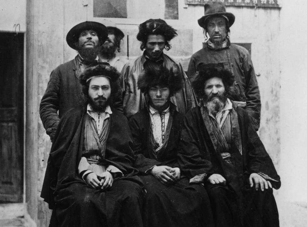 A group of Ashkenazic Jews in Jerusalem, circa 1885