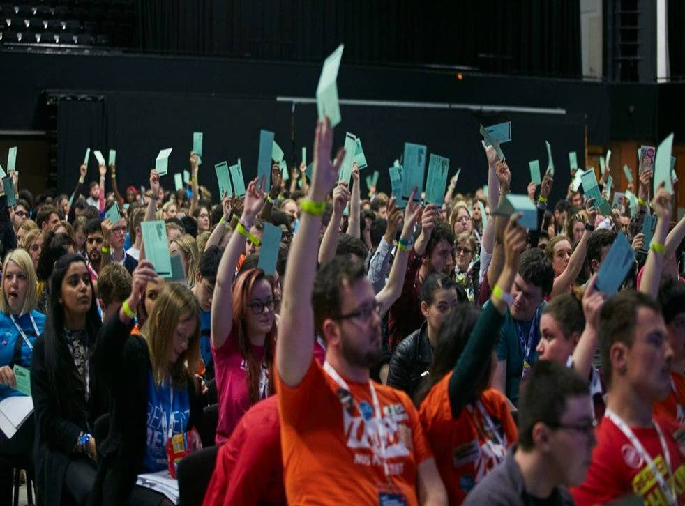 Hundreds of students' union reps, pictured, have been debating and voting on NUS motions since Monday