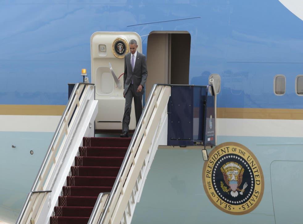 Mr Obama was not met by King Salman when he arrived in Saudi Arabia