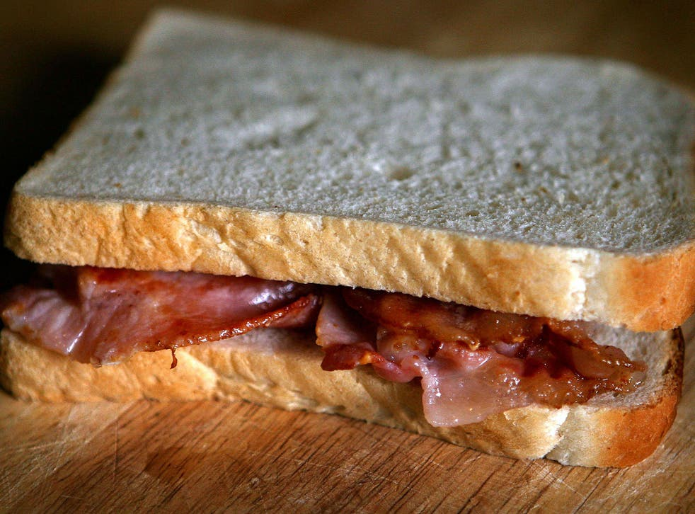 Eating two rashers a day would increase the risk of stomach cancer, the study found