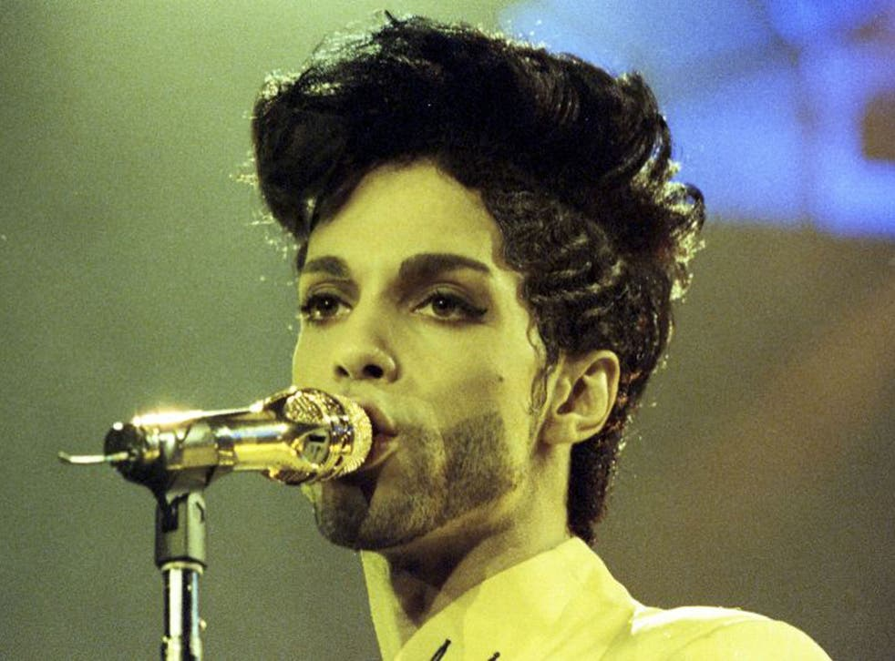 Prince on stage during his 'Diamonds and Pearls Tour' at the Earl's Court Arena, 1992