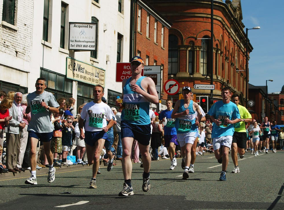 All times from the Manchester Marathon between 2013 and 2015 have been invalidated