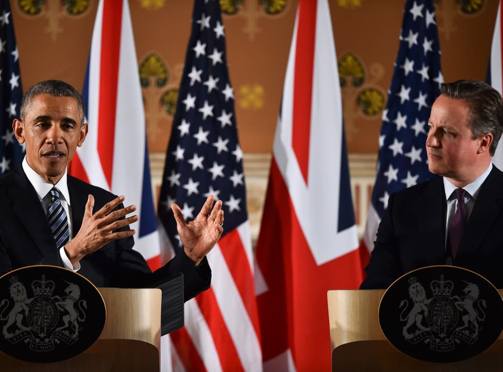 President Obama's comments were as strongly pro-Europe as anything the Prime Minster could have hoped for