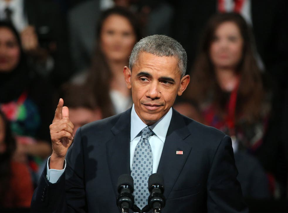 President Obama at the end of his three-day visit to the UK
