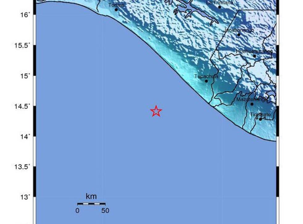 The quake struck 81km off the cost of Chiapas, Mexico