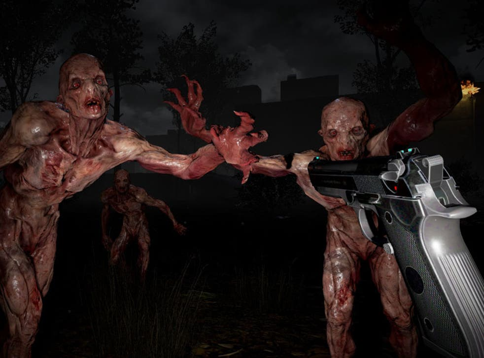 A screenshot from the terrifying VR game, The Brookhaven Experiment