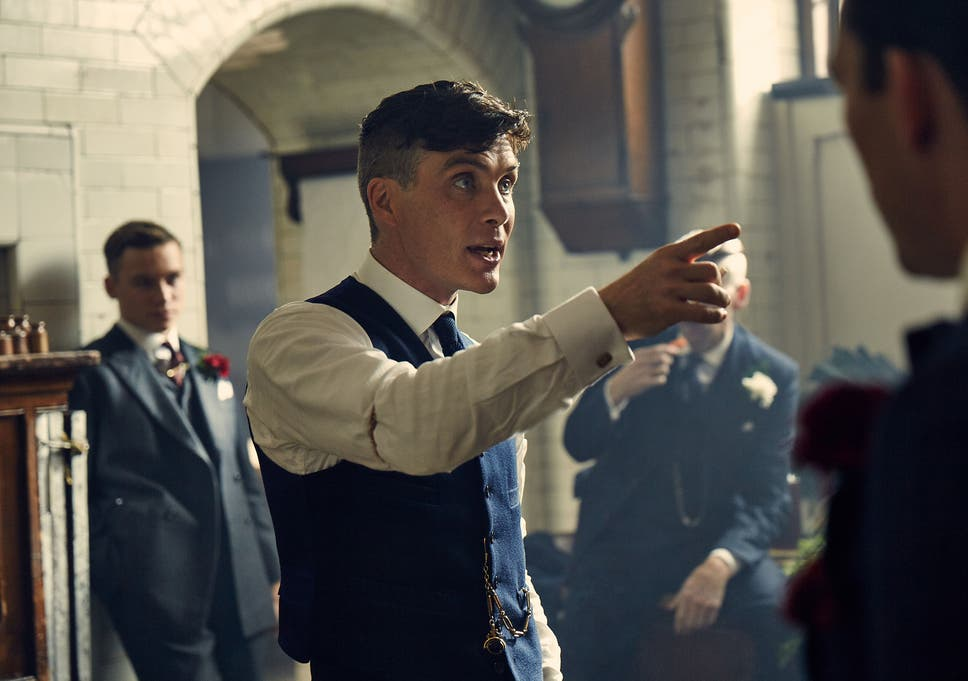 cf6db6a51bd37 Cillian Murphy orders the gang to behave on his wedding day as Tommy Shelby  in Peaky