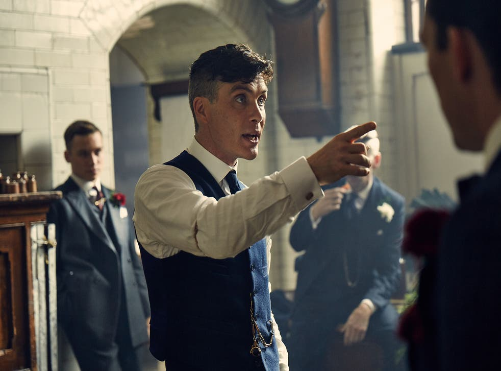 Cillian Murphy orders the gang to behave on his wedding day as Tommy Shelby in Peaky Blinders