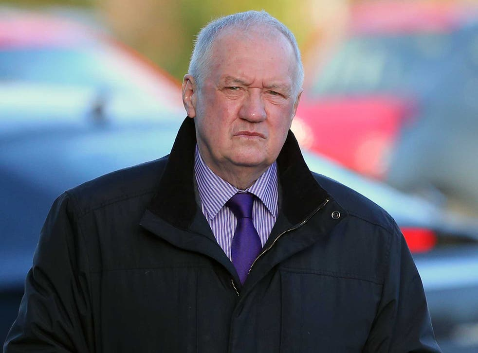 Former South Yorkshire Police Chief David Duckenfield arrives to give evidence at the Hillsborough Inquest at the specially adapted office building in Birchwood Park on 10 March 2015 in Warrington