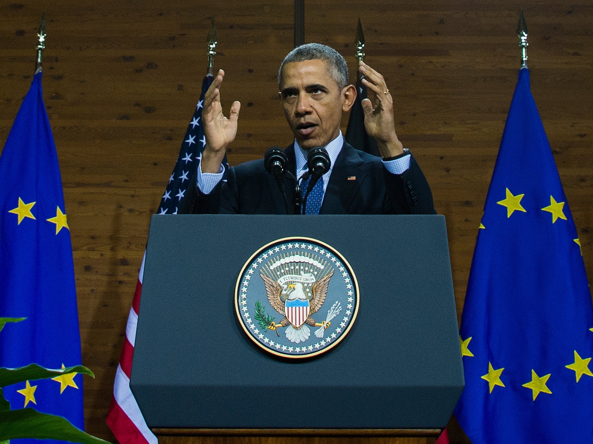 Barack Obama uses Germany visit to call for stronger Europe in face of Isis threat | The Independentindependent_brand_ident_LOGOUntitled