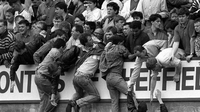 The overcrowding at the 1989 FA Cup semi-final at Hillsborough