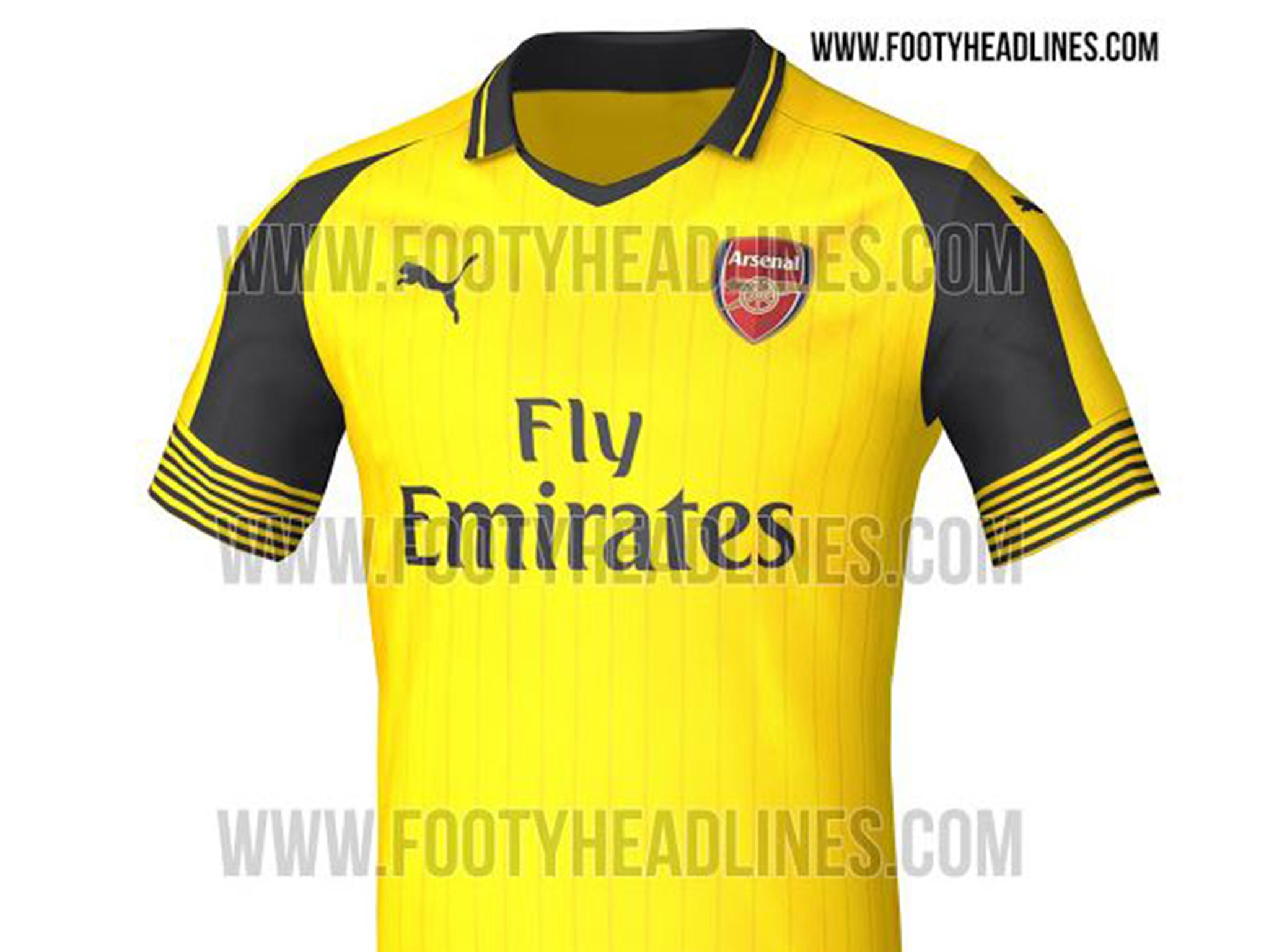 official photos d2f33 ab24f Arsenal away kit leaked: Pictures emerge of bright yellow ...