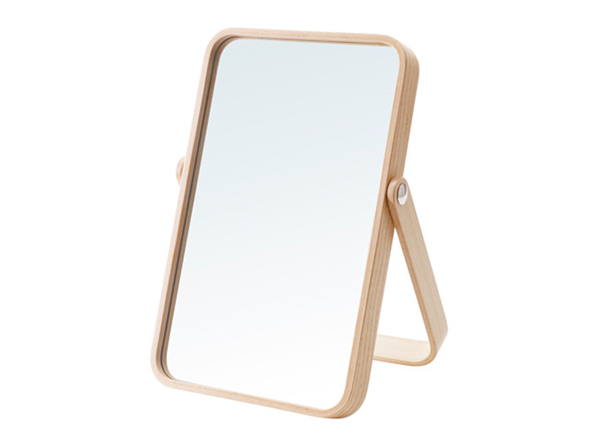 The Flexibility Of The Ikornnes Mirror Impresses Most. It Can Be Used As Table  Mirror Or A Hanging Mirror; The Stand Swings Flat To Form A Small Shelf  While ...