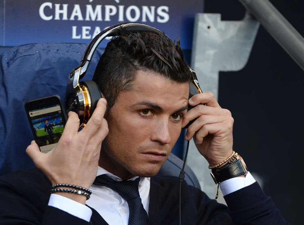 Cristiano Ronaldo spotted watching a video of himself