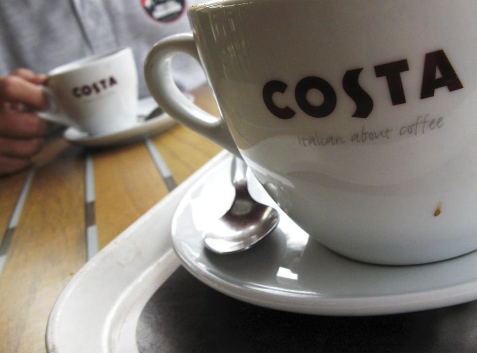 Costa Coffee has over 1,700 outlets across the UK
