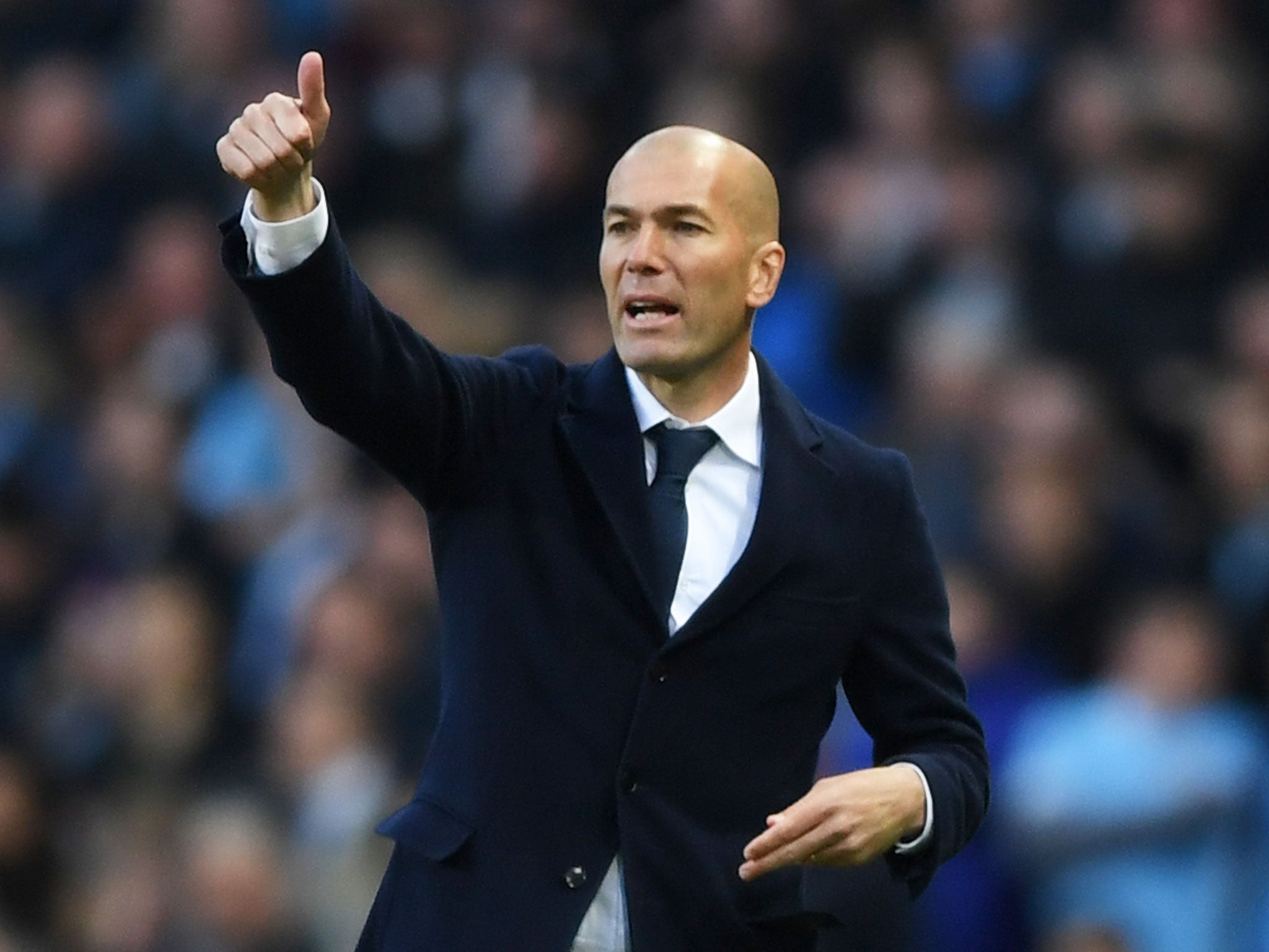 Zinedine Zidane Did the Real Madrid manager rip his trousers