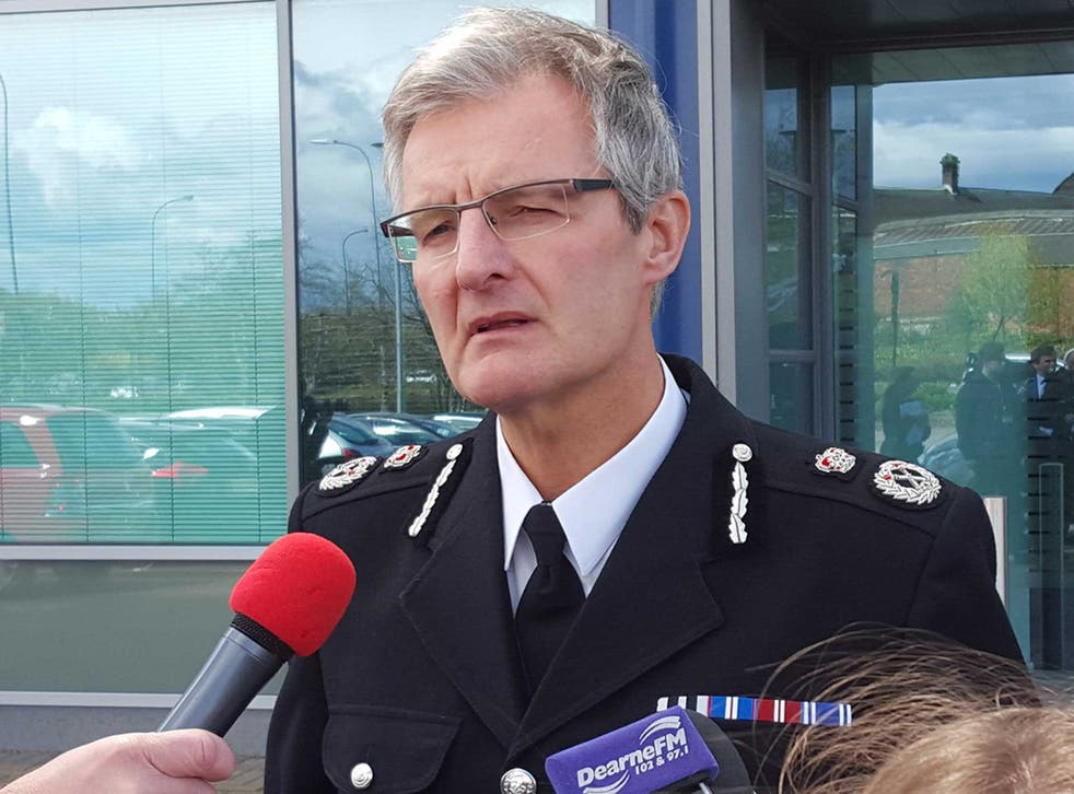 """Chief Constable of South Yorkshire Police David Crompton speaks to media outside the SYP HQ in Sheffield where he said his force """"unequivocally"""" accepts the verdict of unlawful killing and the wider findings reached by the jury in the Hillsborough inquests"""