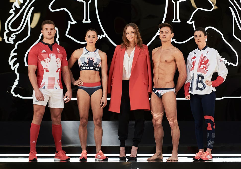 Stella McCartney has an athletic clothing line available from which company?