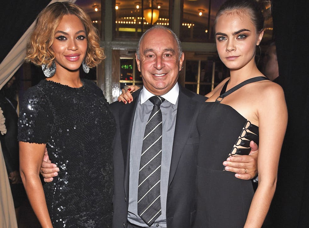Billionaire Sir Philip Green, pictured with Beyonce and Cara Delevingne in 2014, will be asked to face MPs