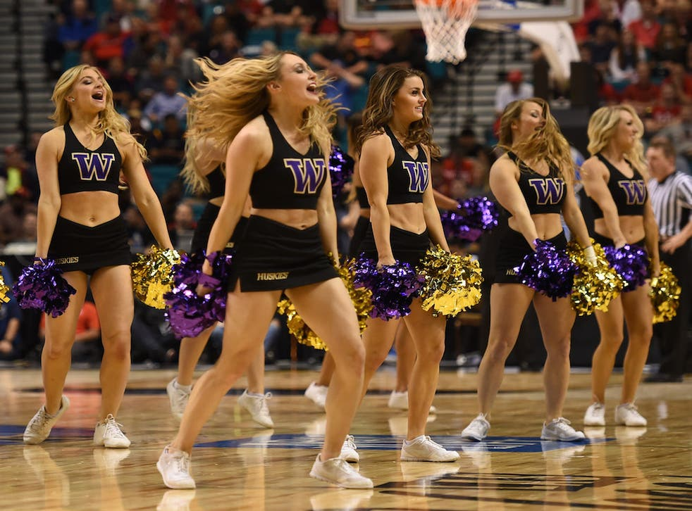 The University of Washington had to take down a cheerleading graphic after public backlash.