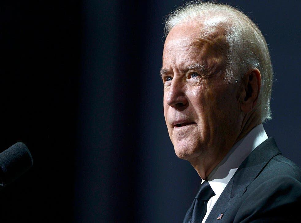 Mr Biden said Mr Trump considers nuclear war a 'trivial affair'