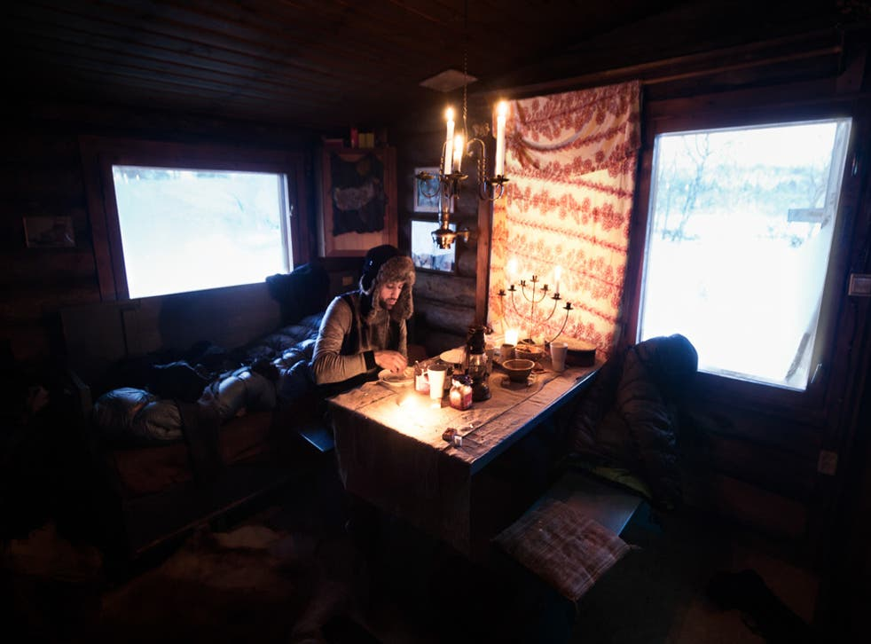 Tinja's husky farm lies off the grid: she cooks and heats with a wood stove, lights her home with candles and has to break the ice of the river every morning to get some water with a bucket