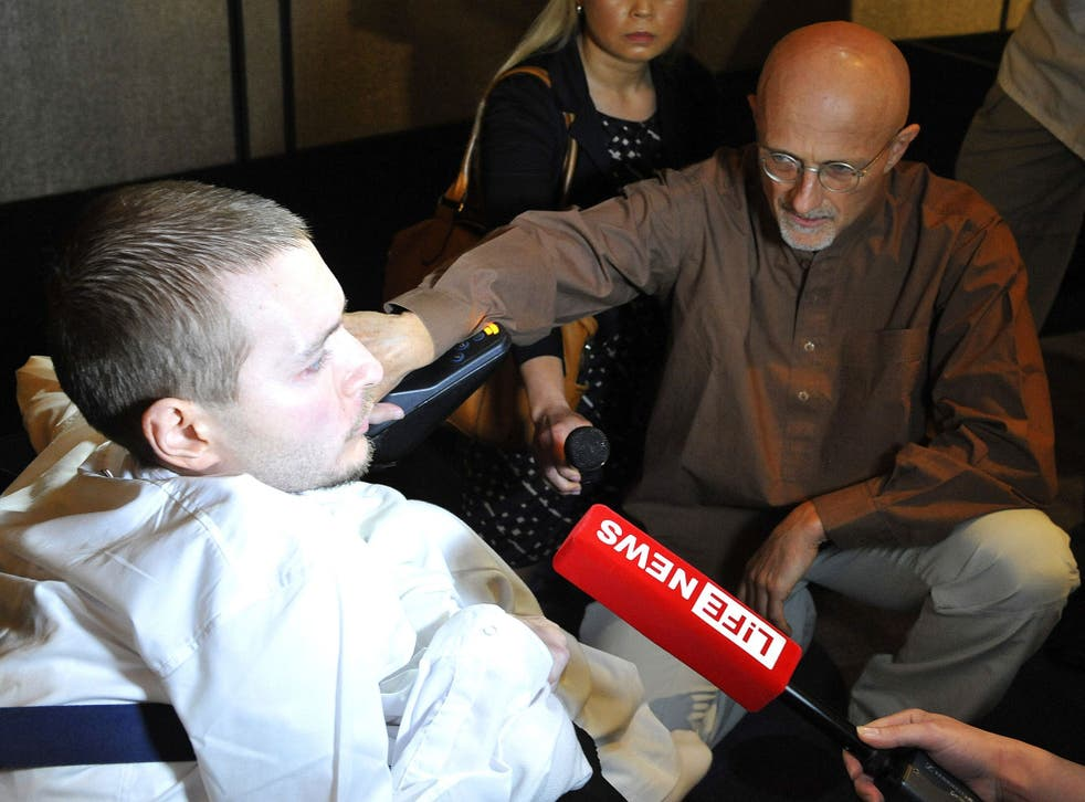 Canavero (right) with Valery Spiridonov, who has volunteered for the first human head transplant