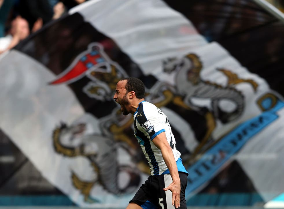 Andros Townsend celebrates scoring for Newcastle against Crystal Palace