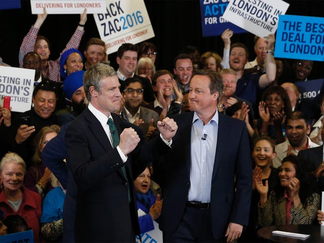 Zac Goldsmith campaigning with the Prime Minister in Richmond yesterday