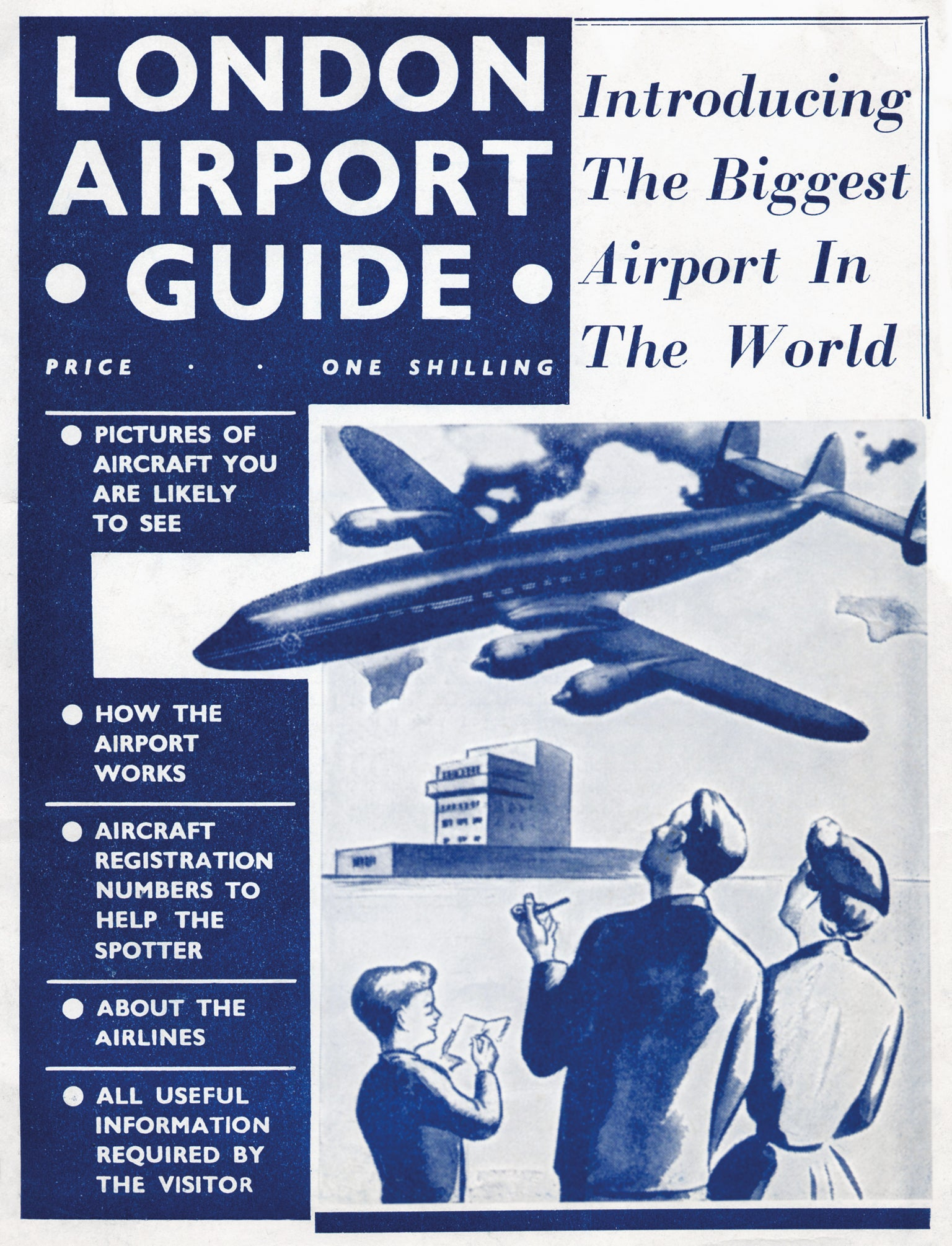 One of the first official London Airport guidebooks