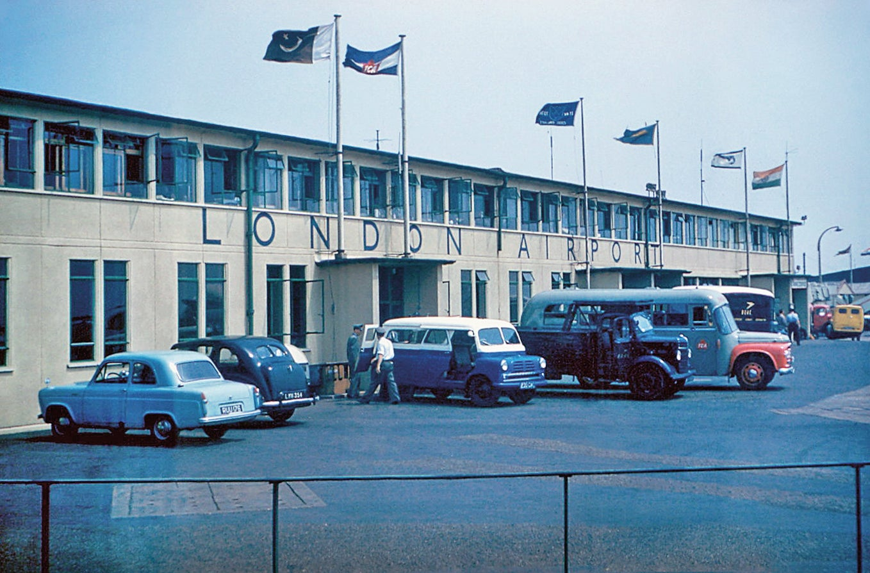 In 1950 a permanent concrete terminal building was built