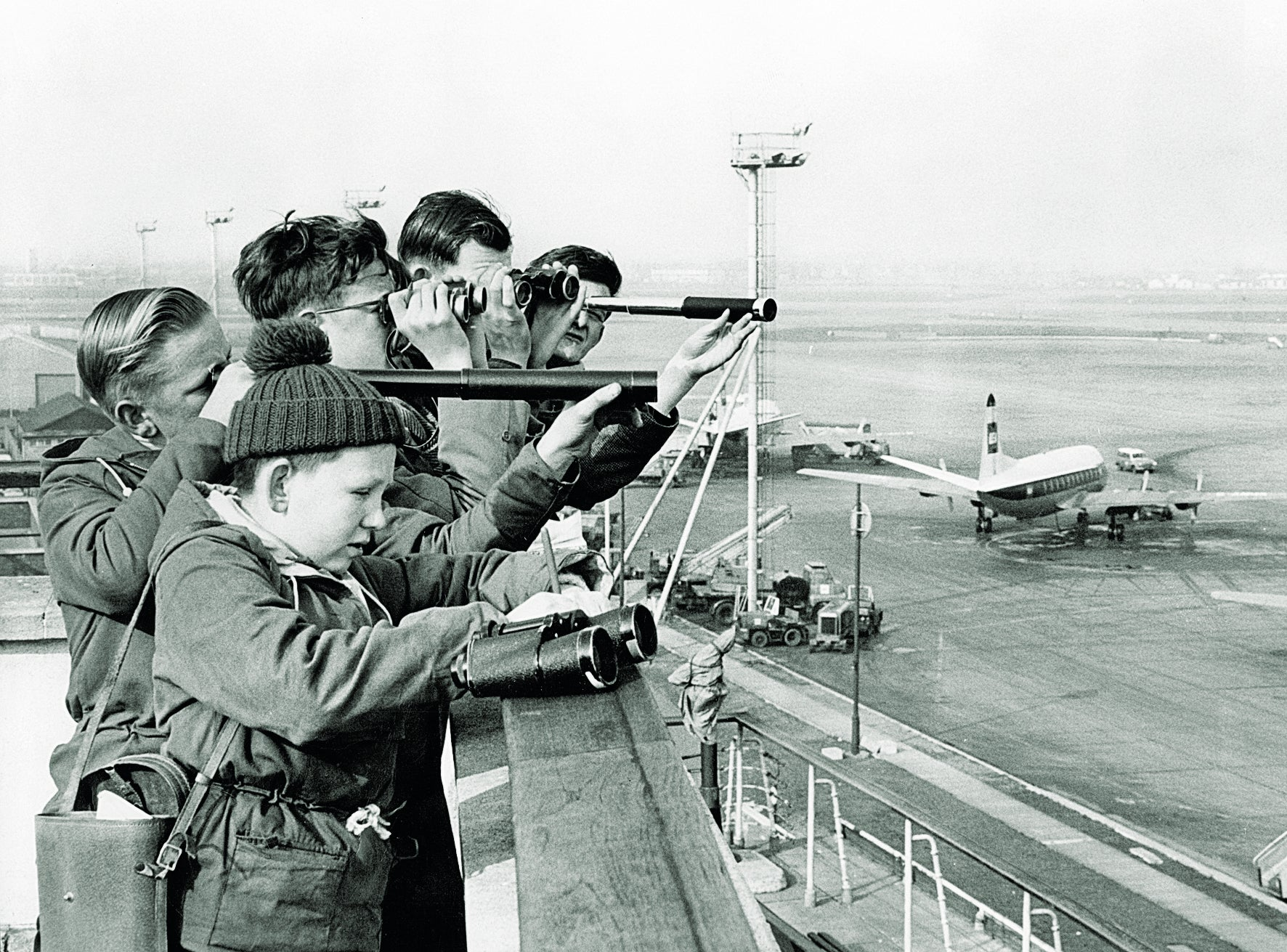 Plane spotting on Heathrow's viewing terraces in the 1960s