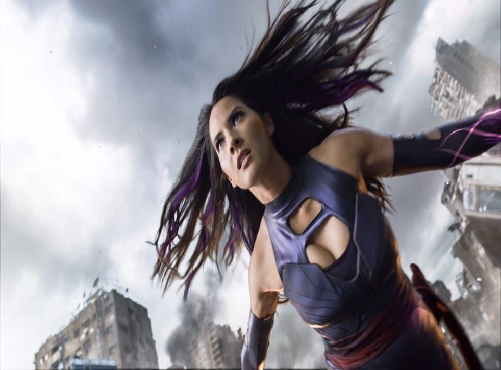 Olivia Munn as Apocalypse's sidekick Psylocke in X-Men: Apocalypse