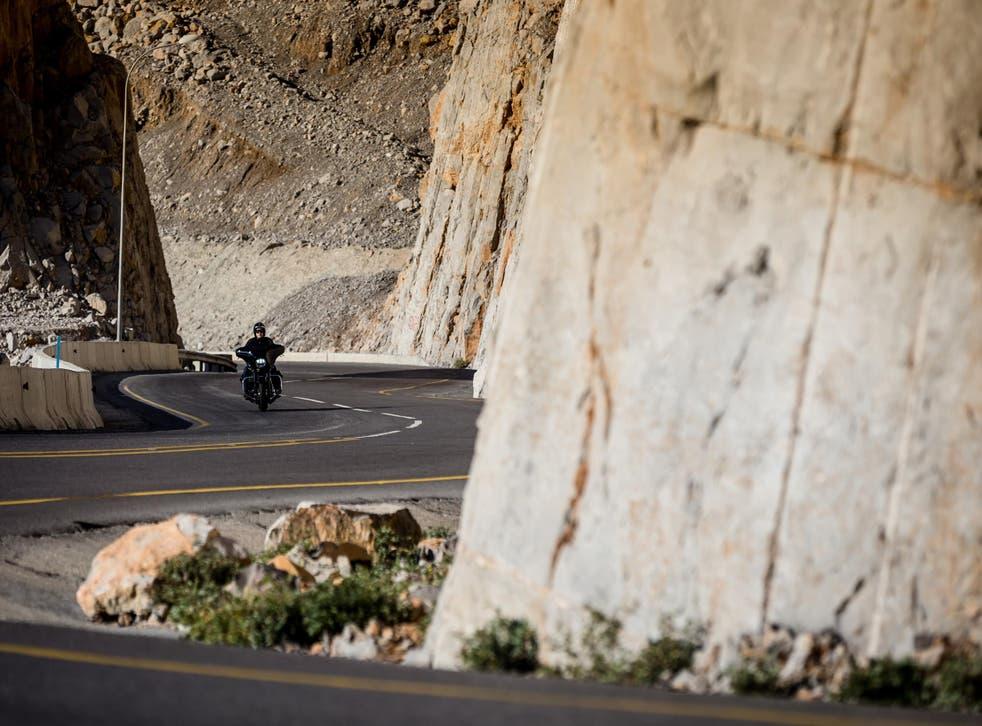 Riding through the Hajar mountains