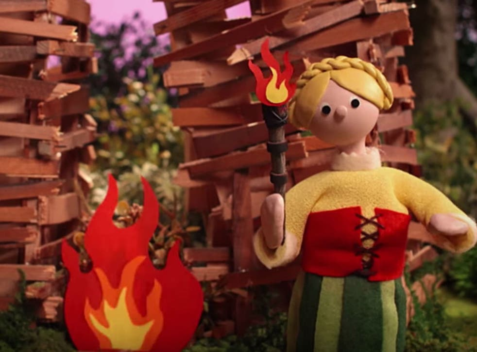 Radiohead's new video sees stop-motion puppets burn an outsider to death