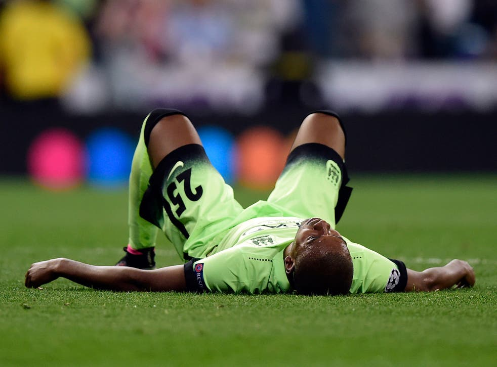 Fernandinho reacts to Manchester City's exit
