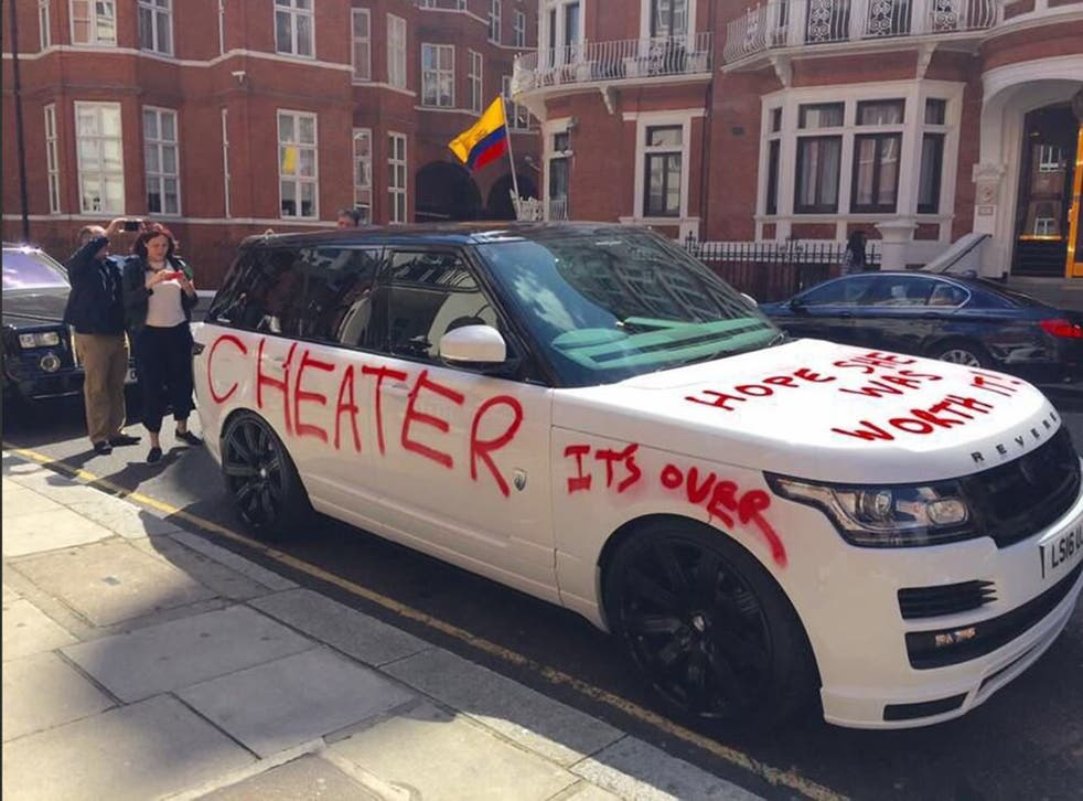 The mysterious car appeared outside Harrods department store yesterday morning