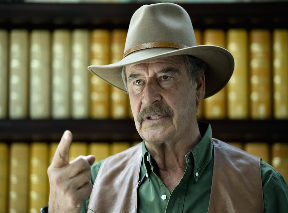 Former Mexican president Vicente Fox often uses social media to taunt Trump