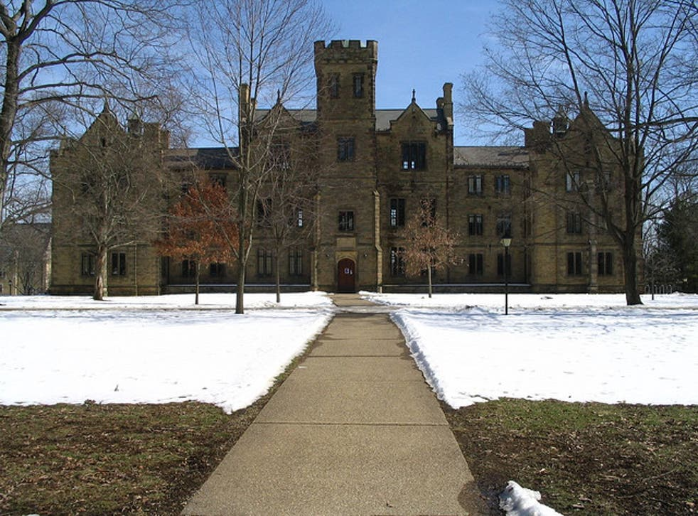 The alleged incident took place at Kenyon College in Ohio in November last year