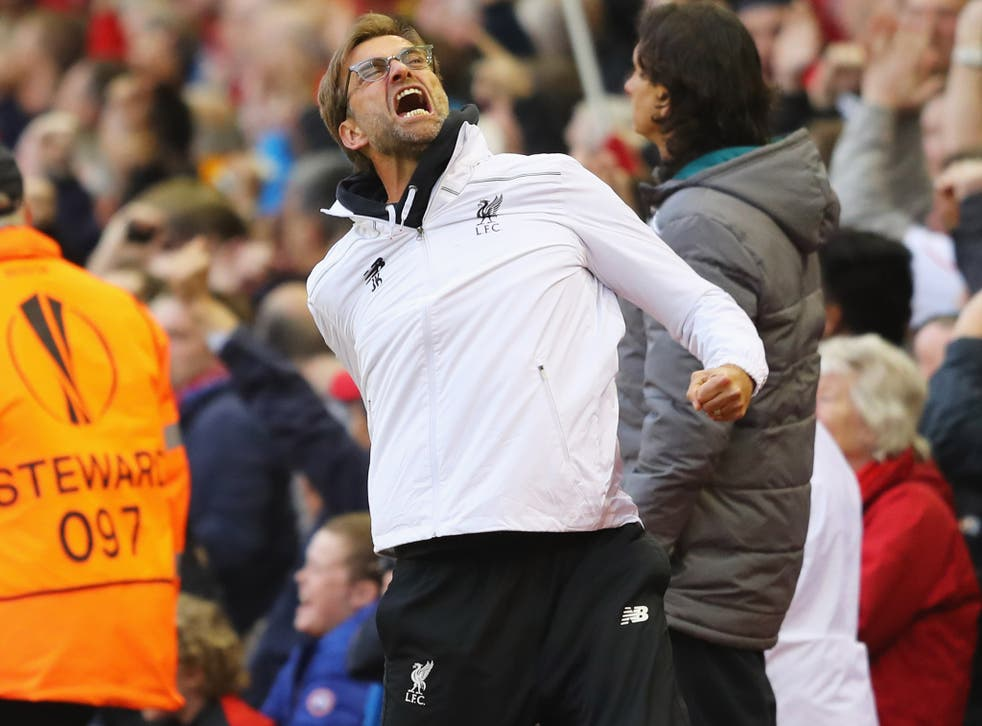 Jurgen Klopp was full of celebrations as Liverpool marched through to the final