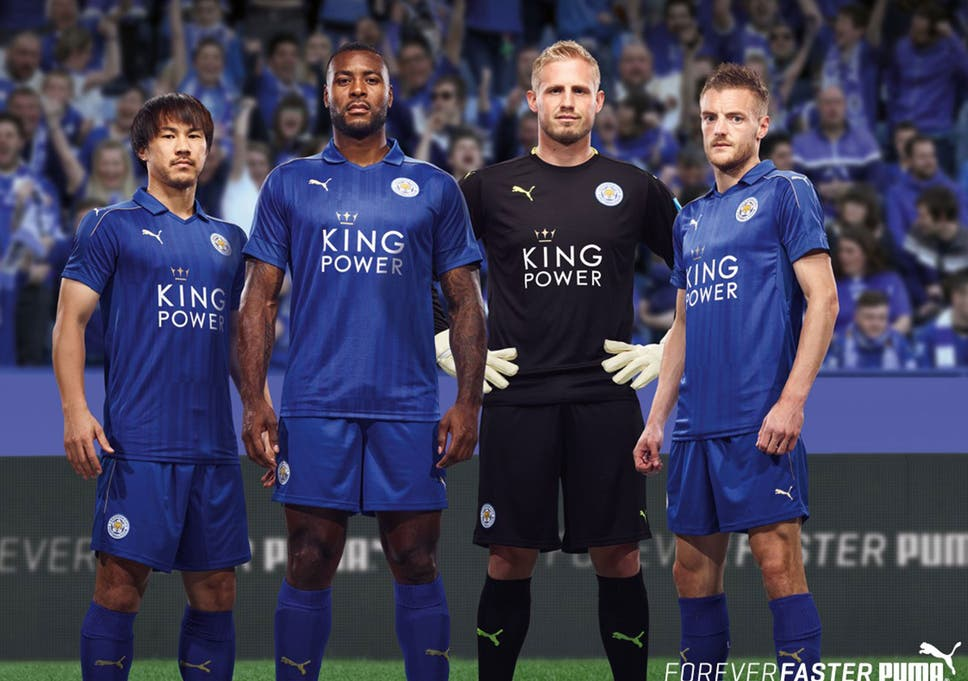 3c7ce9cec98 Leicester kit: Premier League champions unveil strip in which they will  defend title