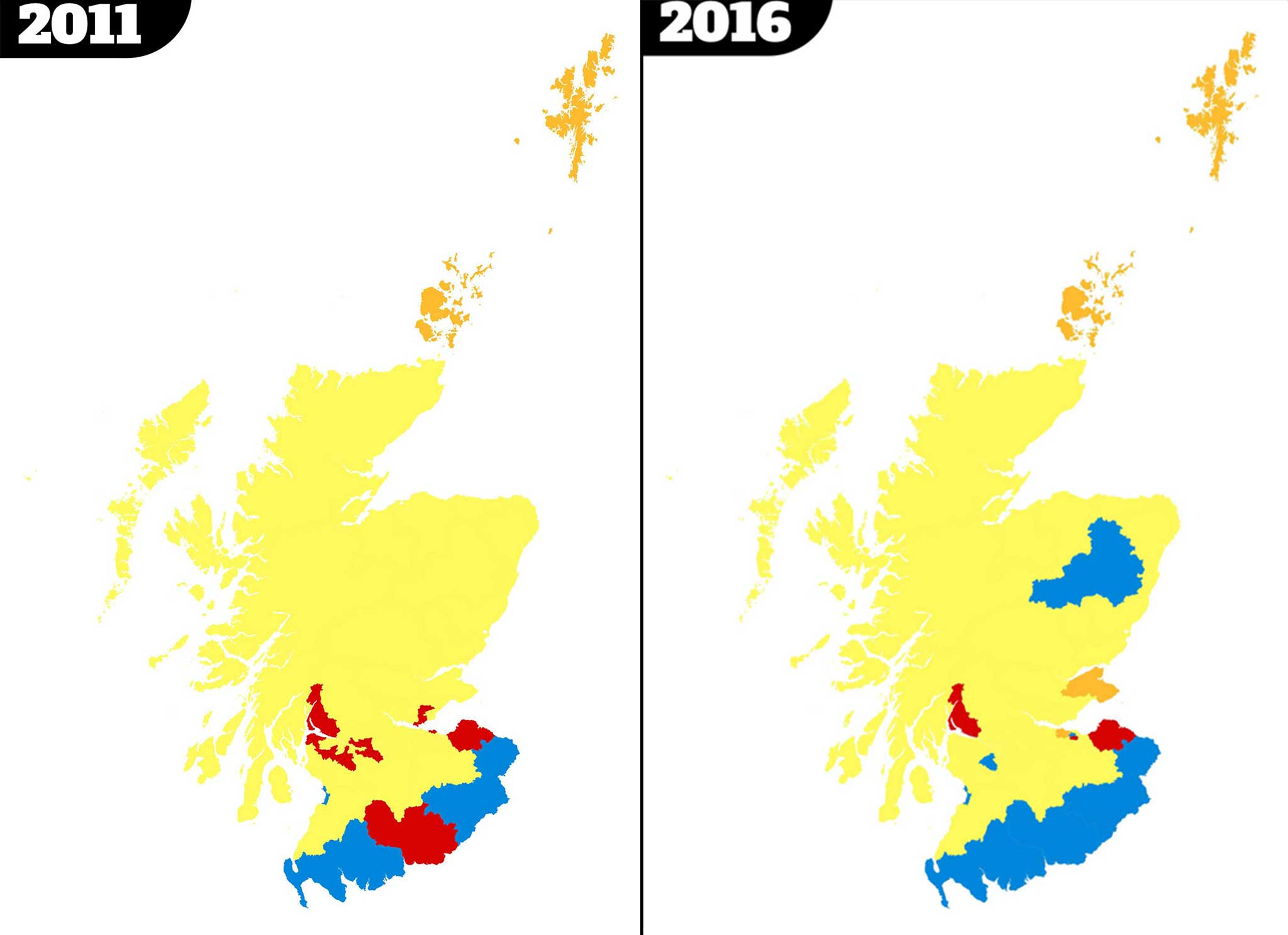 Scottish Parliament Election Results Two Maps That Show Labours - Current us map of election results 2016