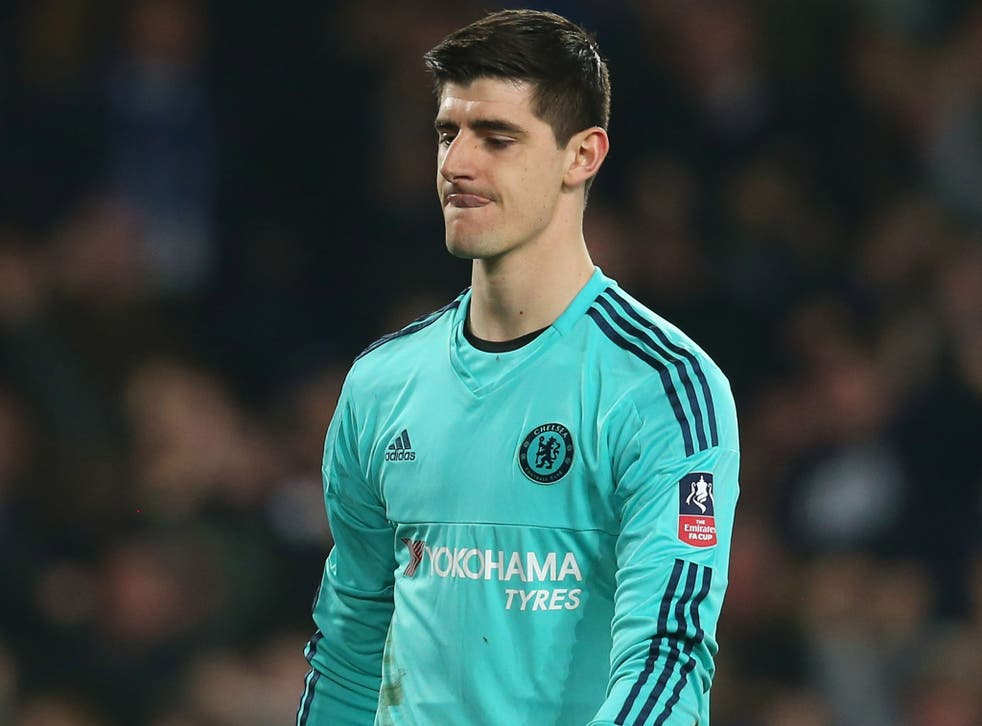 Thibaut Courtois is reported to have had a row with Chelsea coach Christophe Lollichon