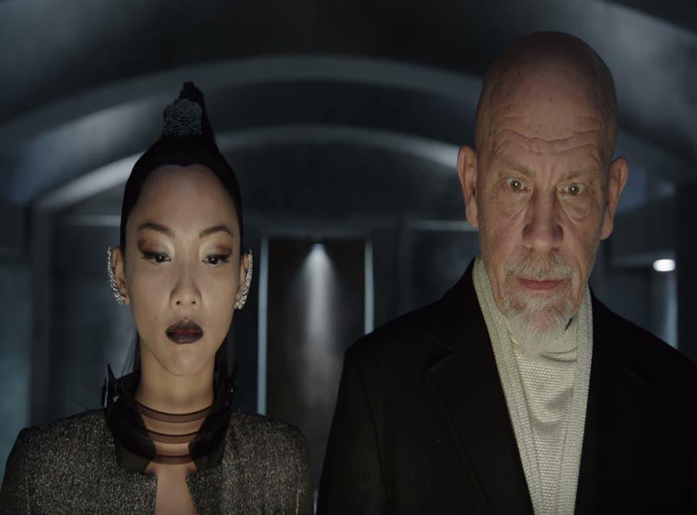 Shuya Chang and John Malkovich in '100 Years': not coming to a screen near you soon