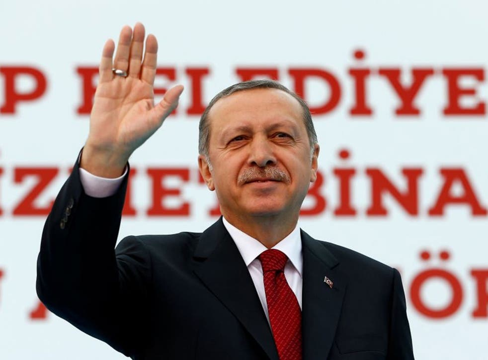 Mr Erdogan accused the West of possessing a mindset 'remnant of slavery and colonialism'