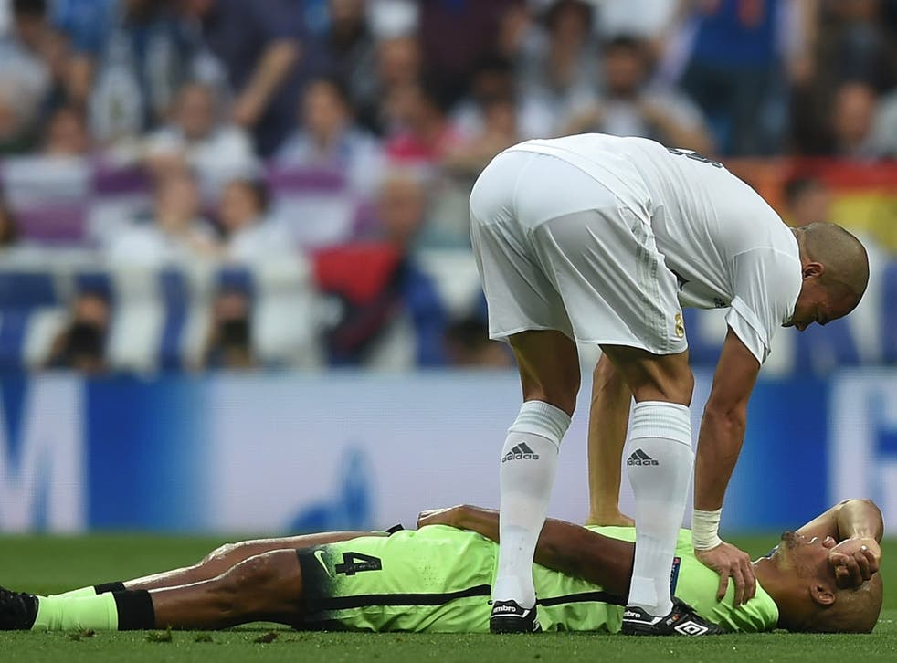Vincent Kompany flew to Barcelona on Thursday to see a specialist about his latest injury setback