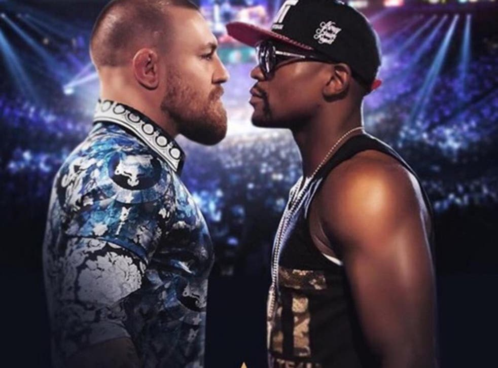 Mocked-up picture uploaded by Conor McGregor to his Twitter account today