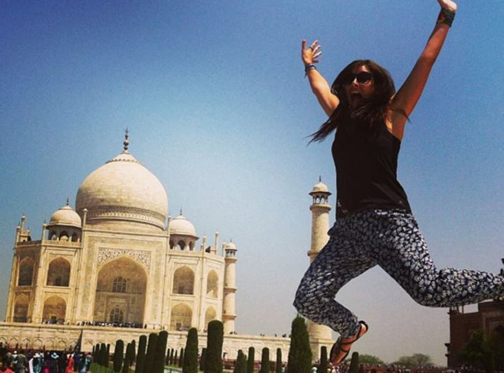 Katy has visited many exotic destinations, including the Taj Mahal, since getting dumped