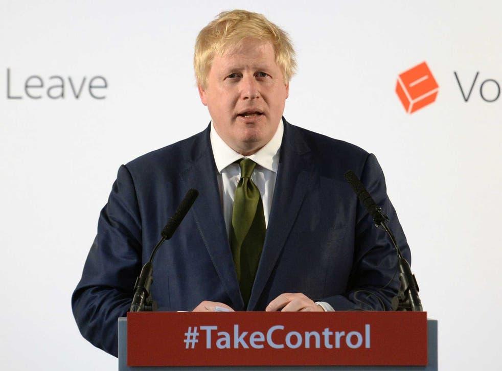 Boris Johnson outlines the case for leaving the Europeanan Union