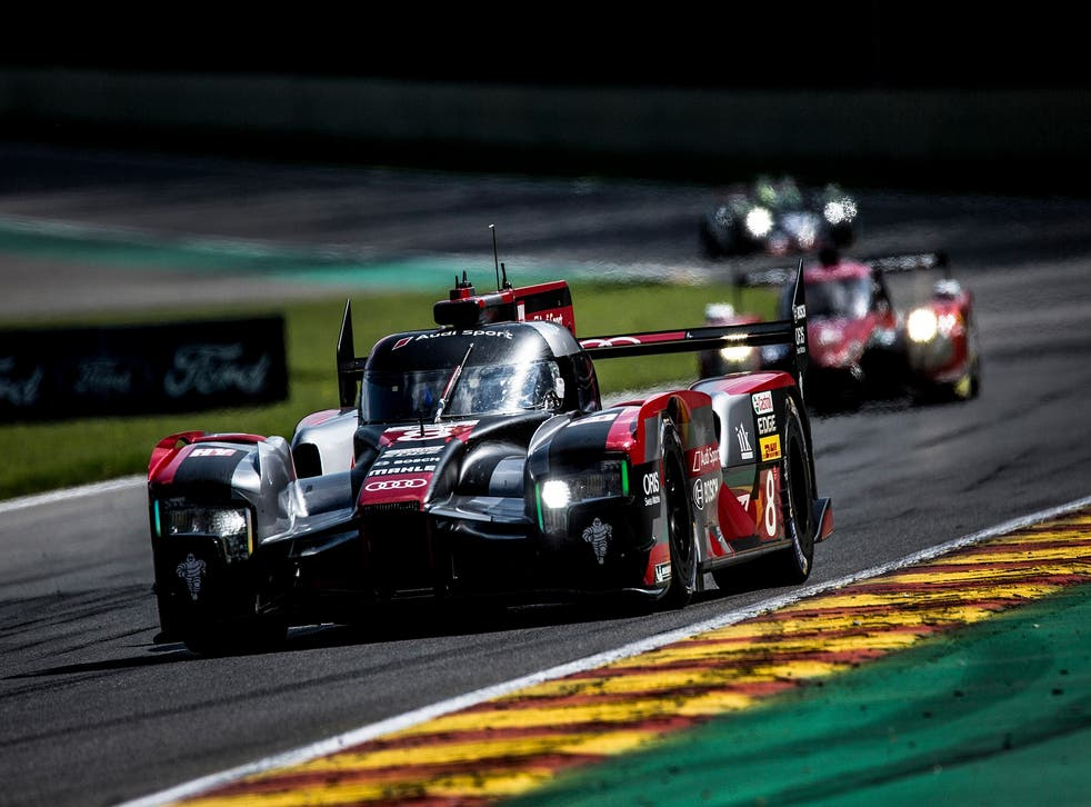 The No 8 Audi of Lucas di Grassi, Loic Duval and Oliver Jarvis won the Spa 6 Hours